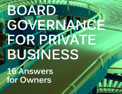 Board Governance for Private Business – eBook