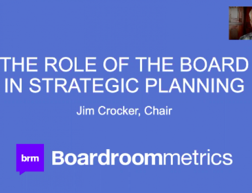 The Board's Role in Strategy Webinar